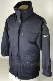 Politie parka Nederlands - origineel - donkerblauw - excl. voering - maat Medium - origineel