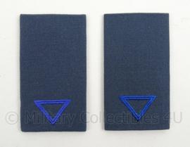 KLu Luchtmacht epauletten rang Soldaat der 3e klasse Opleidingen - per paar - afmeting 5 x 9,5 cm -  origineel