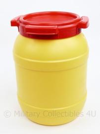 Waterdichte geel rode box -  27 x 19 x 17 cm - origineel