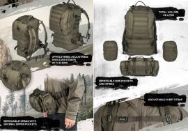 Defense pack MOLLE GROEN - formaat aanpasbaar aan iedere situatie! - met afneembare tassen