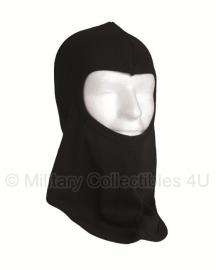 Balaclava 1 gats katoen bovenzijde gezicht open - zwart