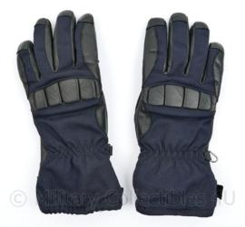 Defensie en Kmar Koninklijke Marechaussee Tactical gloves Aramide/Leder - Donkerblauw - maat 6 tm. 8 - origineel