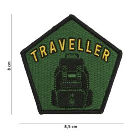 Traveller embleem stof - met klittenband - 8,5 x 8 cm