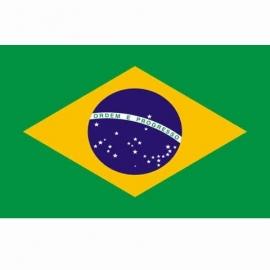 Vlag Brazilie - Polyester -  1 x 1,5 meter
