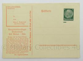 WO2 Duitse postkarte - konzentrationslager Buchenwald - afmeting 15 x 10 cm - origineel