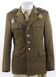 Tsjechisch leger Officiers uniform jasje met insignes !- maat 45 - origineel
