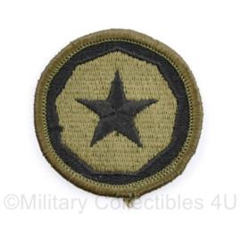 US Army Naoorlogs subdued embleem 9th Theater Command Support - diameter 5 cm - origineel