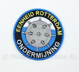 Nederlandse Politie Eenheid Rotterdam Ondermijning embleem - met klittenband - diameter 9 cm