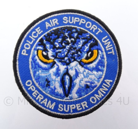 Nederlandse Police Air Support Unit embleem met klittenband - Unit Operam Super Omnia - diameter 9 cm