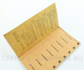MVO bonboekje voor aankoop PSU goederen uit 1955 - afmeting 14,5 x  9 x 0,3 cm - compleet - uniek - origineel