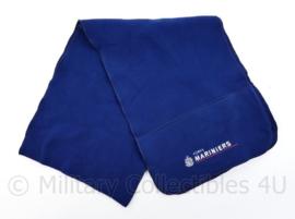 Korps Mariniers blauwe sjaal - met opdruk Korps Mariniers - 155 x 26 cm - licht gedragen - origineel