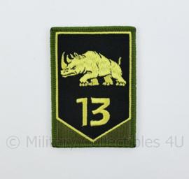 KL Nederlandse leger 13e Gemechaniseerde Brigade GVT embleem - met klittenband - 8 x 5,5 cm