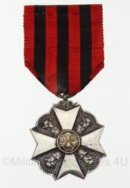 Belgische medaille zilver - 8 x 4 cm - origineel