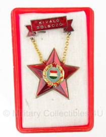 Hongaarse medaille 1970/1979 - in doosje kivalo dolgozo medal - origineel