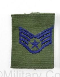 USAF US AIRFORCE GVT epaulet voor de borst van de Goretex jas  -  rang Senior Airman - per stuk - 6 x 4 cm -  origineel
