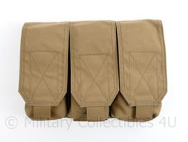 Defensie en Korps Mariniers Warrior Assault systems Molle tas Triple magazin pouch M4 C7 coyote - 17 x 23 x 5 cm -  nieuw - origineel