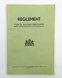 Reglement voor de Militaire Ambtenaren der Koninklijke Landmacht - 1950 - afmeting 13 x 18 cm - origineel