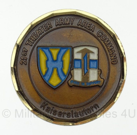 21st Theater Army Area Command Kaiserslautern Coin For Excellence - origineel