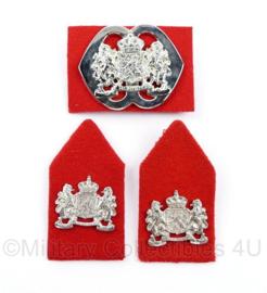 Defensie baret en kraag insigne set NATRES Korps Nationale Reserve- 3 delige set - origineel