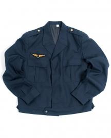 Franse luchtmacht jas blauw kort - maat 84,88 of 92 cm. borstomtrek - origineel