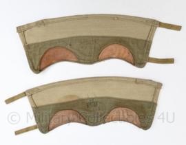 Zeldzame WO2 Britse khaki gaiters - 37,5 x 13 cm - origineel