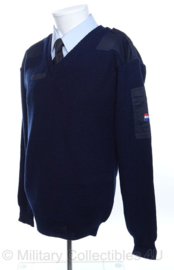 KLU Luchtmacht trui V-hals Donkerblauw - NIEUW in verpakking - maat 6 of 7 - origineel