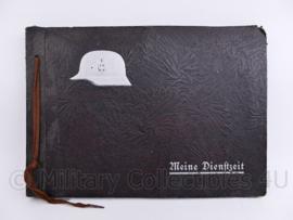 WO2 Duits Wehrmacht leeg foto album met Stahlhelm - MEINE Dienstzeit - 31,5 x 22 x 1,5 cm - origineel