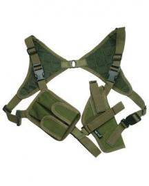Schouderholster CORDURA -groen