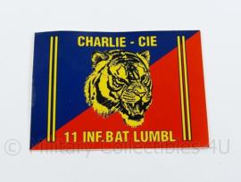 Defensie 11 Infaterie Bataljon Luchtmobiel Charlie Compagnie sticker - 10 x 7 cm - origineel