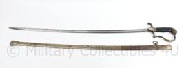 Nederlandse leger officiers M1912 wandelsabel leeuwenkop zilverkleurig  - 103 cm - origineel