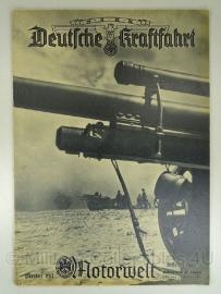 NSKK Deutsche Kraftfahrt Motorwelt groot Tijdschrift Februari 1943 - origineel