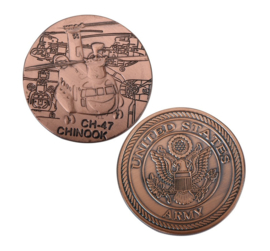 US Army CH-47 Chinook coin - 40 mm diameter