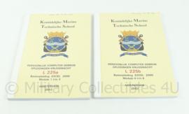 Korps Mariniers naslagwerk uit 2002 - basisopleiding EXCEL 2000 module 1 t/m 3 en 4 t/m 6 - origineel