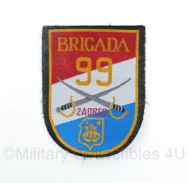 Kroatisch Brigada 99 Zagreb patch  - origineel