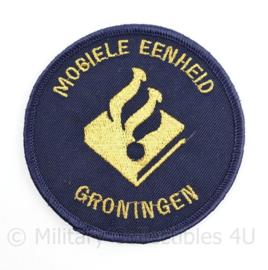 Mobiele eenheid Groningen embleem  - met klittenband - diameter 9 cm - origineel