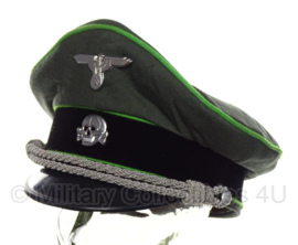 Waffen SS officiers schirmmütze gabardine - semi crusher - 57 tm. 60 cm - SS Grenadier