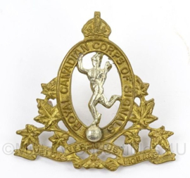 WO2 Canadees baret insigne Royal Canadian Corps of Signals - afmeting 4,5 x 4,5 cm - origineel