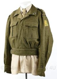 MVO 1958 uniform jas Technische Troepen met insignes emblemen en Staf 1e Legerkorps - 1e Luitenant - maat 51 - origineel