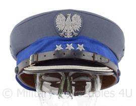 Poolse leger pet met embroidered insigne - hogere rang met 3 sterren - maat 60 - origineel