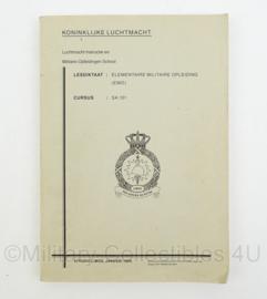 KLu Luchtmacht handboek Elementaire Militaire opleiding 1989 LIMOS -30 x 21 x 1,5 cm- origineel
