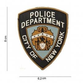 Embleem 3D PVC NYPD New York Police Department -  klittenband - 8 x 6,2 cm