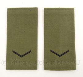 KM Marine Korps Mariniers GVT rang epauletten Marinier 2 - afmeting 5 x 11 cm - origineel