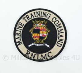 RNLMC Royal Netherlands Marine Corps Marine Training Command embleem - met klittenband - diameter 9 cm