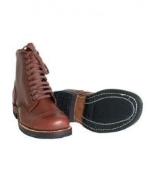 US schoen voor class A- service shoe glad bruin leer
