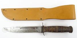 Combat knife met replica USMC schede - gebruikt - afmeting 33 x 6 cm