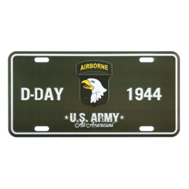 Nummerplaat D-Day US Army All American 101st Airborne Division