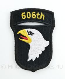 "WO2 US Army 101st Airborne Division ""506th PIR Parachute Infantry Regiment"" patch met klittenband - 8,4 x 6 cm"
