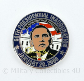 Zeldzame coin 56th Presidental Inauguration January 20 2009 Barack Obama  diameter 5 cm - origineel