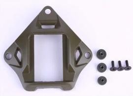Militaire NVG nachtkijker Night Vision Goggles mount met bevestigingsschroeven - 9,2 x 10,2 cm - GROEN