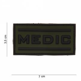 Embleem 3D PVC Medic - klittenband - 5 x 2,5 cm - groen